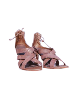 Tan Tie-up Sandals