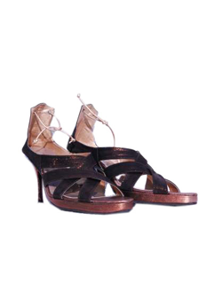 Chocolate Brown Tie-up Sandals