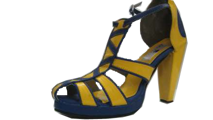 Yellow / Blue Sandals