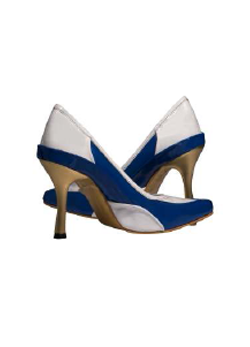 Blue & White Pumps